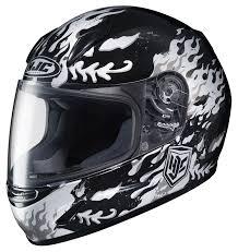hjc helmets motocross hjc cl y flame face youth helmet revzilla