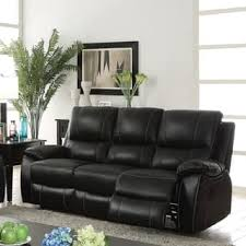 Black Reclining Sofa Black Leather Sofas Couches U0026 Loveseats Shop The Best Deals