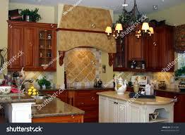 kitchen with center island modern kitchen center island breakfast stock photo royalty