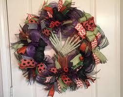 halloween wreath halloween wreaths etsy