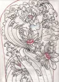 flowers and phoenix tattoos sketch real photo pictures images