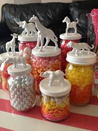 candy jars for baby u0027s first birthday party with pastels