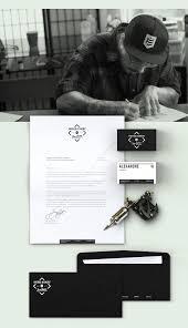 frères d u0027encre tattoo shop brand identity
