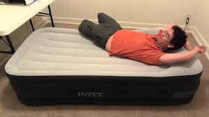 intex beds intex deluxe pillow rest raised bed demo youtube