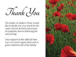Words Of Comfort For Funeral Thank You Note Funeral Etiquette Donation Funeral Thank You Card