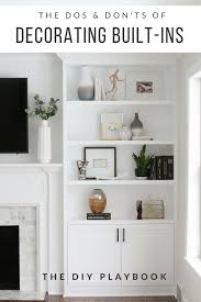 decorating built ins the dos and don ts of decorating built in shelves the diy playbook