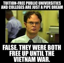 Dream On Meme - viral image stretches the truth about college costs before the