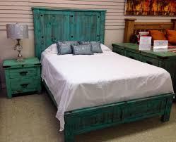 Floor And Decor Mesquite Texas Distressed Aqua Rustic Bed La Hacienda Furniture Muebleria