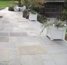 Paving Slab Calculator Design by Natural Indian Sandstone In Grey Has Been Used To Transform The