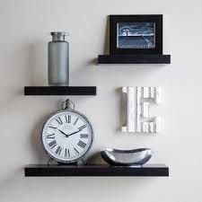 home decor set of display floating wall racks black