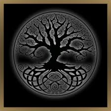 a spooky tree with celtic design future pumpkin carving celtic