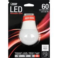 Gu24 Led Light Bulb 800 Lumen 3000k Dimmable Led Feit Electric