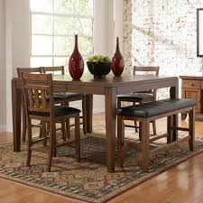 excellent rustic dining room set with bench 51 for your dining