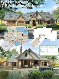 architectural designs craftsman house plan 16896wg has a rugged