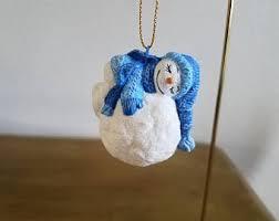 snowball ornament etsy