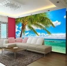 palm sand tropical beach 3d full wall mural large print wallpaper