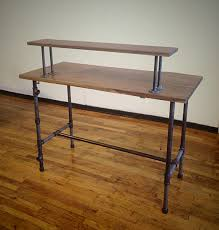 wood and metal writing desk 57 most brilliant rustic metal desk home wood writing computer table
