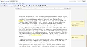Spreadsheet Editor Google Docs U0027 Revamped Document Editor Gets Some Major New Features