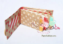 make a photo album scrapbooking paper calliope