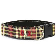 scottish plaid dog collar u2013 slik hound