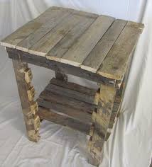 extra rustic sofa side table pallet furniture plans