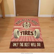 king of the road racing tires floor graphic garage decor