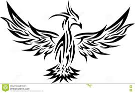 tribal phoenix tattoo 2 stock vector image of format 73988657