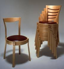 Stackable Dining Room Chairs Quality Handcrafted Stackable Dining Chairs Curtis Erpelding