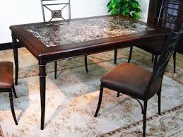 Stone Top Dining Room Tables Round Granite Kitchen Table Picgit Com