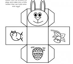 easter bunny baskets easter egg basket templates printable free coloring page