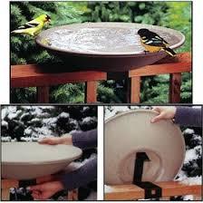 review api 650 bird bath bowl with tilt to clean deck rail