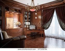 home style interior design home office interior design style stock illustration