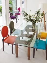 chaises cuisine couleur decoration chaises cuisine tissu couleurs dépareillées chaises de