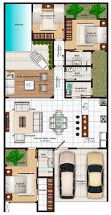 Narrow House Plans With Garage 721 Best Floorplans Images On Pinterest House Floor Plans Floor