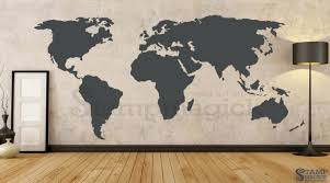world map wall decal 7 8ft tall k379 stampmagick wall decals see our wall decal information page to learn more about our vinyl decals including material properties color chart installation procedures paint issues