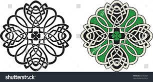 shape celtic ornament fourleaf clover stock vector 32182654