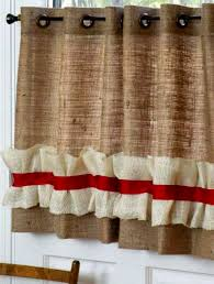 Brown Burlap Curtains Burlap Curtain Panel With Grommets 64 X 36 Burlap Valance With