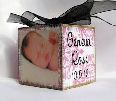 personalized baby block ornament said in online custom personalized gifts and creations