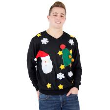santa sweater and santa sweater
