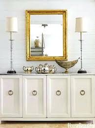 mirrored buffet console furniture white credenza dining table
