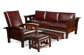 mission style leather sofa mission style couch mission style sofa made in reversible back and