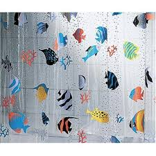 amazon com spirella 3d fish pvc transparent waterproof shower