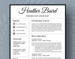 Reference Page Resume Template Modern Resume Template For Word 1 3 Page Resume Cover