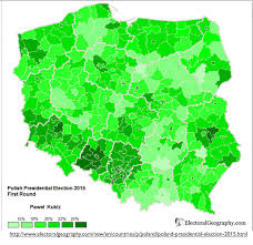 Map Poland Poland U0027s Stark Electoral Divide Geocurrents