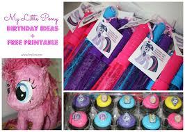 my little pony birthday ideas my little pony free printables