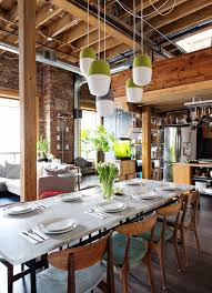 The Brick Dining Room Furniture Marble Dining Table Dining Room Industrial With Brick Wall