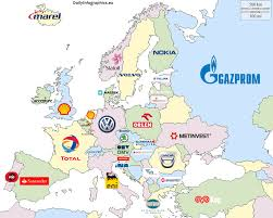 Map Europe Countries by World U0027s Map Of Biggest Companies