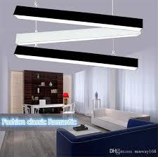 rectangular light fixtures for dining rooms 120cm office led aluminum rectangular ceiling pendnat light modern