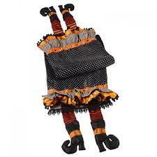 jack o lantern halloween table runner black orange color cotton