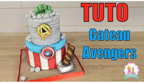 decoration cupcake anniversaire u2022 gateau cake design avengers tutoriel decoration pate a sucre
